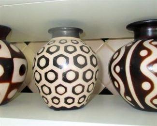 Peruvian. Signed reproductions of Moche period ceramic