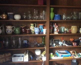 Variety of vintage glass