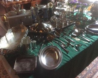 Tableful of silverplate