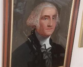 Reverse painted portrait of George Washington...circa 1880s