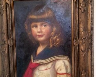 Oil portrait of child