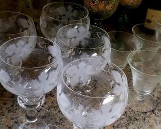 Val St. Lambert goblets