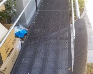 Like new AMRAMP custom ramp for disabled entry! Adjustable from 25 ft and smaller.