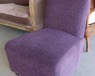 Brand new with tags purple slipper chair