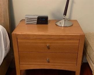 The nightstand and lamp are sold.
