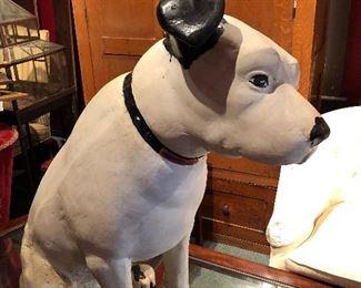 1930's LARGE NIPPER THE RCA DOG (PAPER MACHE  DISPLAY)
