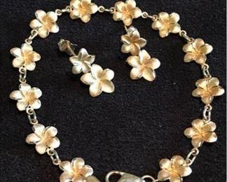 14k Bracelet Earrings Hawaiian