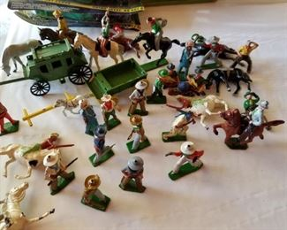 Lots of cast toys...cowboys, army, animals & more