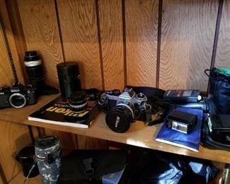 Lots of camera equipment & lenses