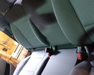 Center console folded up
