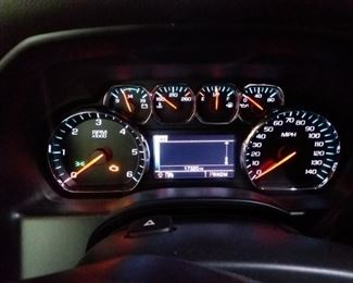 Odometer reading. 4X2  with tow package.