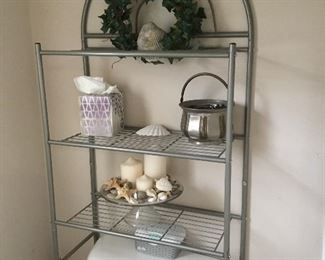Shelf in Bathroom with more decor