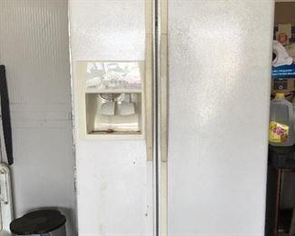Refrigerator freezer in garage