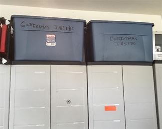 Storage units and miscellaneous items in garage