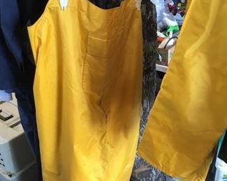 Pants to rain suit