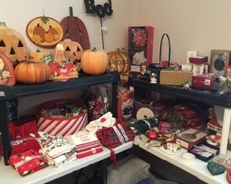 Lots of holiday decor for all seasons