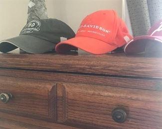 Bedroom 3 - 2 Harley hats & 1 Razorback hat