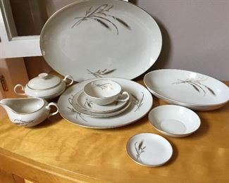 """Vintage 1960's """"Golden Harvest"""" dishes with completer pieces, made by Fine Arts (USA)"""