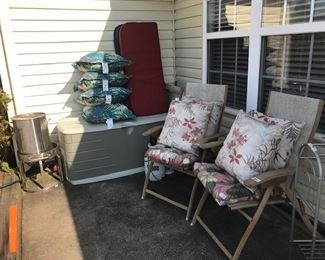 Outside items on patio