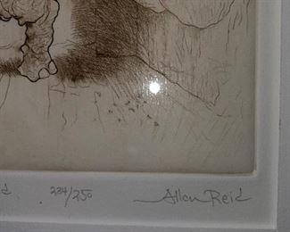 """ALLEN REID LITHOGRAPH """" GETTING READJUSTED"""""""