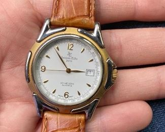 JACQUES EDHO 18K GOLD PLATED WATCH