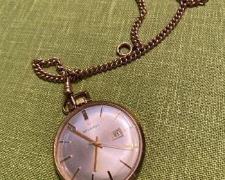 HELBROS POCKET WATCH WITH CHAIN