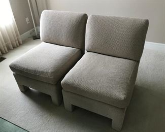 These 4 matching accent chairs allows you to fill any space needed.