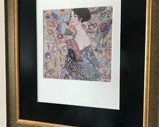 """""""Woman With Fan"""" framed print by, Gustav Klimt - Painter of Women"""
