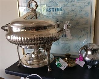 Beautiful Silver warming pan/soup urn