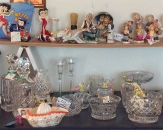 Hummel figurines, Occupied Japan juicer,  Waterford crystal items.     Nice items for the upcoming holidays or gifts