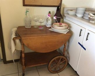 Maple Tea Cart. Good condition