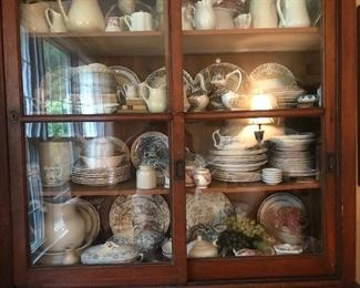 Astounding collection of transfer ware, all colors, all styles, all circa, one stop anglophile shopping