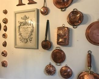 Huge copper collection, fun and function, French farmhouse favorites