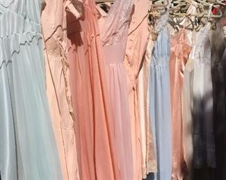 lingerie loveliness, nighties, vintage lingerie, slips, vintage nightgowns