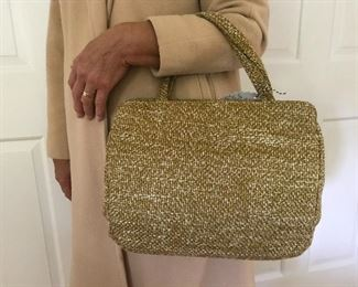 Sweet vintage tweed handbag