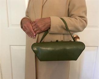 Judy Jetson's favorite 1950's handbag, green vintage leather box purse