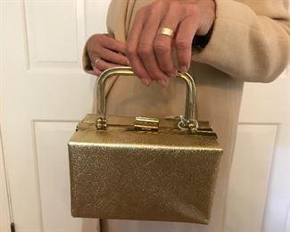 Vintage Gold box Bag