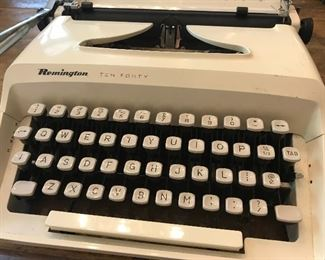 Remington typewriter, tuned up and working with new ribbon