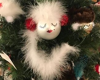 Handmade Christmas balls, diva ornaments, fun chick gifts, girls hanging out
