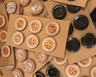New buttons,wooden buttons, great collection of new buttons,