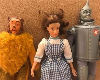 Wizard of oz dolls, no scarecrow, Dorothy doll, cowardly lion doll, tin man doll