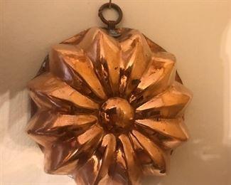 Copper molds, copper ware, kitchen copper