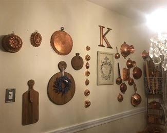 French copper wall in the kitchen, Parisienne loveliness, lots of styles