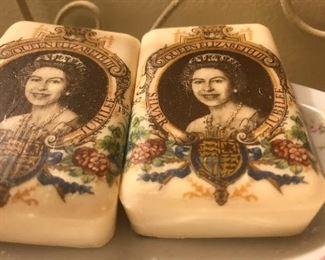 Queen Elizabeth soap bars, British decor