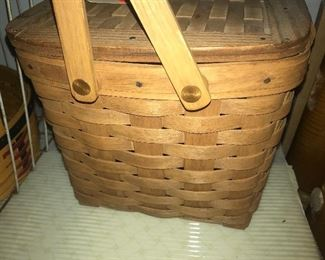 Longaberger basket,weekender staple with interior divider, made in the usa
