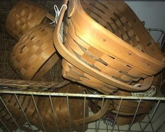 Lots of longaberger baskets, highest quality made in the usa