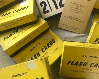 Flash cards ,vintage flash cards, division, addition, multiplication , subtraction, great for teachers