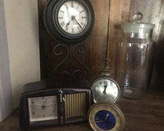 Clocks galore, large variety, time pieces