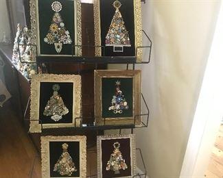 Vintage jewelry trees, sparklytrees