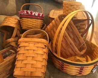 Longaberger quality baskets, made in the USA